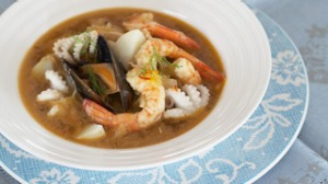Seafood, fennel and potato stew