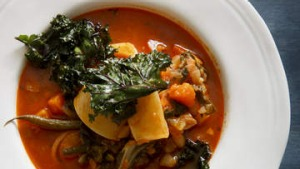 Roasted root vegetable minestrone.