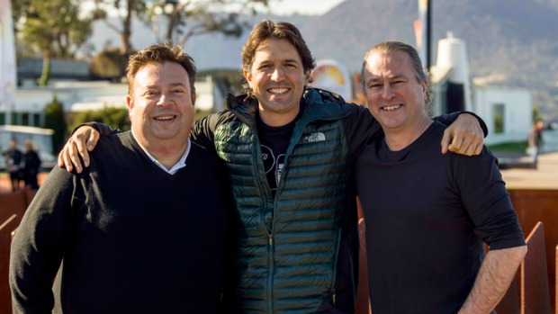 From left: Top Australian chefs Peter Gilmore, Ben Shewry and Neil Perry.