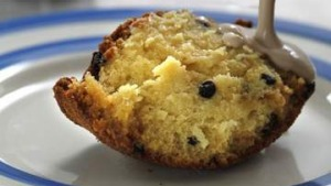 British classic: Spotted dick with earl grey custard.