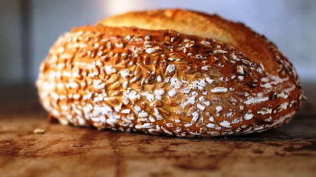 "The ""home baked"" wholemeal loaf from Brasserie Bread."