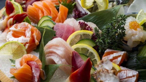 The sashimi platter is highly recommended.