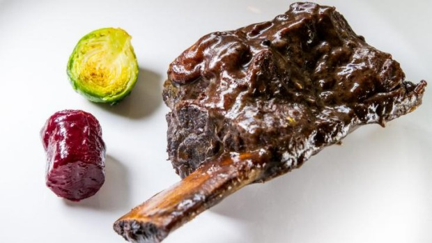 Feel the warmth: Braised short rib, beetroot and sprouts.