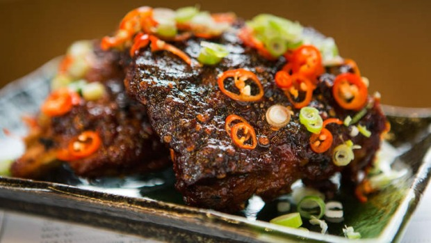 Chilli-slathered pork ribs give a good slow burn.