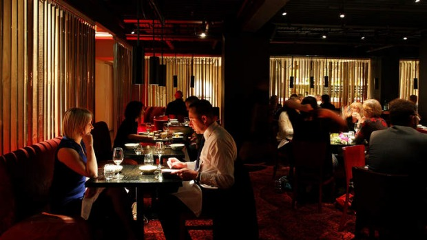 Quality over quantity: The darkly moody interior of Spice Temple Sydney.