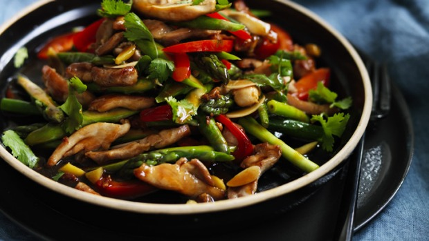 Stir fried chicken and asparagus recipe good food this stir fry is as simple and as versatile as they come ccuart Gallery