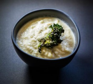 Spiced cauliflower soup.