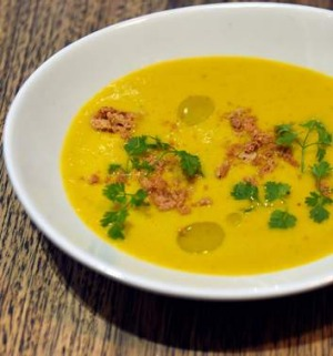 Philippa Sibley's carrot and chervil soup.