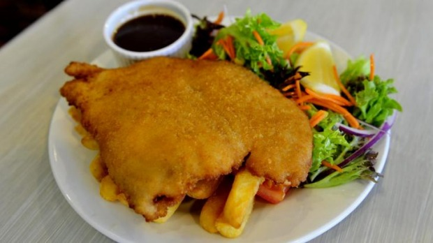 Hard to beat a chicken schnitzel (schnitty) for value.