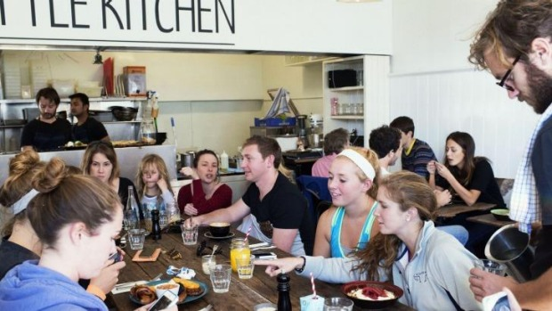 Happy campers: The Little Kitchen in Coogee.