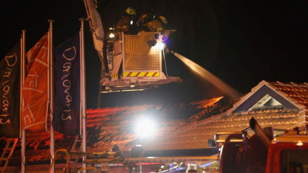 MFB crew extinguishing the blaze.