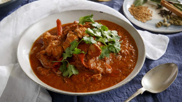 Karen Martini's mild butter chicken can be served with rice and makes a great family meal.  <b>Photo</b>: Marcel Aucar. ...