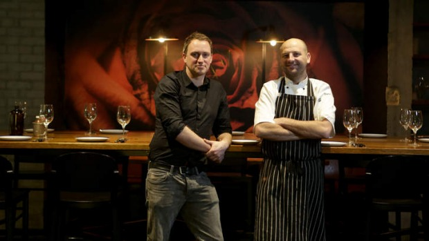 Beastly business: Neil Hamblen (left) and consultant chef Justin Wise.