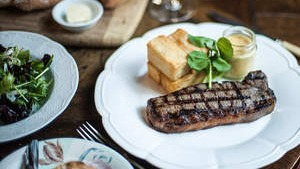 Bistro Vue's take on French classic: Steak frites.