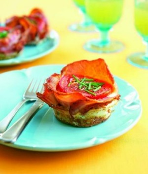 "Gluten-free: Egg and Bacon Pies from ""High Tea"", published by Viking."