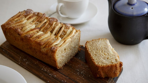 Tea time: Frank Camorra's apple and ginger rye cake.