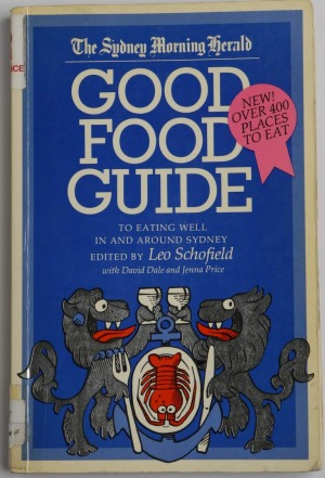 The first edition of <i>The Sydney Morning Herald Good Food Guide</i>, launched in 1984.
