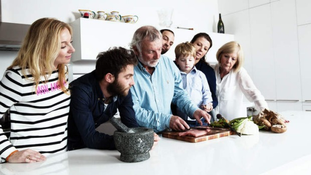 Jacques Reymond and his family at home.