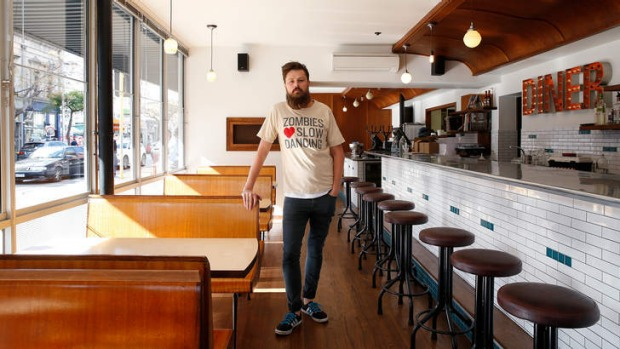 Spice of life: Aaron Turner at his Nashville-style restaurant Belle's Hot Chicken; and the flaming hot chicken they serve.