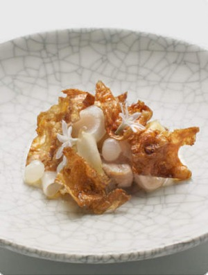 Make a request: Quay's pig jowl with scallop and Jerusalem artichoke.