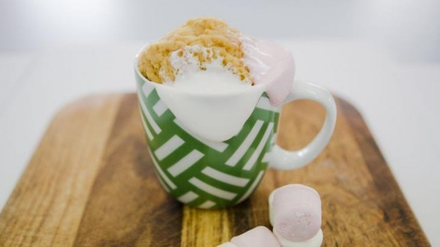 Whopping: Making the marshmallow and peanut butter mug cake was strangely exhausting.