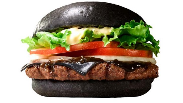 Meet Burger King's latest Japanese creation, the 'Kuro Diamond', coloured with bamboo charcoal.