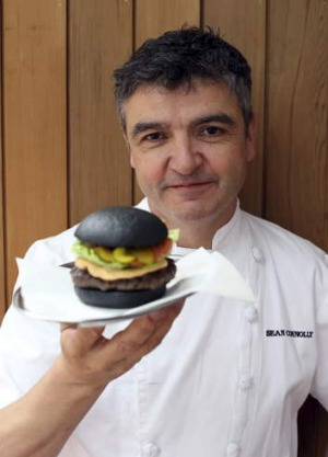 Chef Sean Connolly launched the Black Widow burger last year. The colouring comes from vegetable carbon.