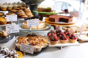 A classic sweets spread at one of Ottolenghi's London restaurants.