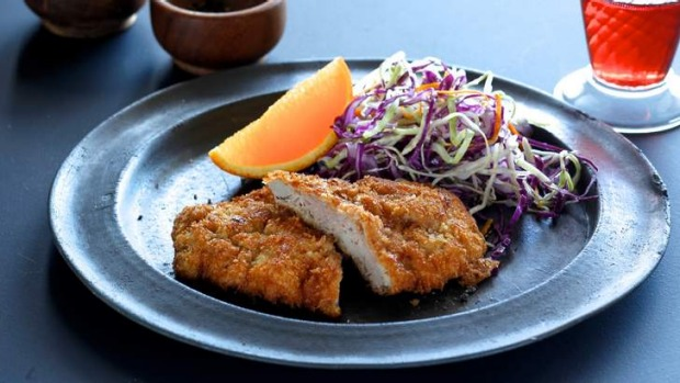 Something different: Duck schnitzel.