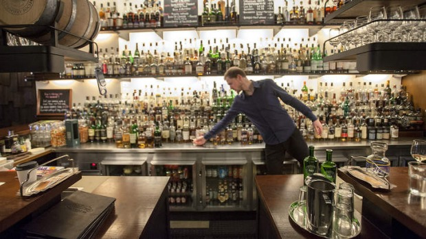 Growing thirst: More than 550 whiskies are on offer at Whisky and Alement.