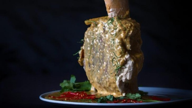 A beef shank with Thai flavours.