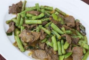 Nutritious and delicious: Thai beef and beans stir-fry.