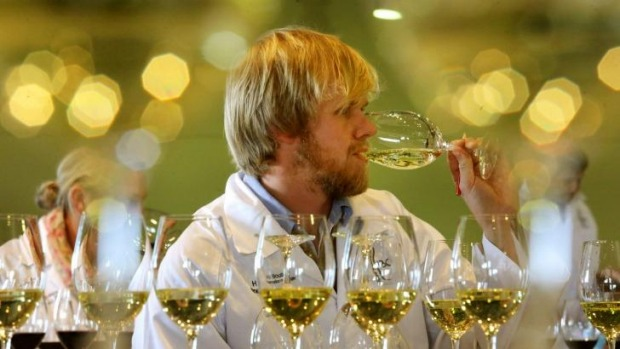 Wine judge Joel Carey at the Hunter Valley Boutique Wine Show.