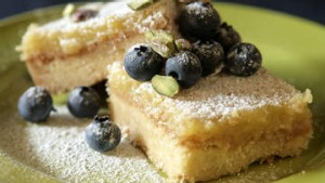 Lime and almond slice.