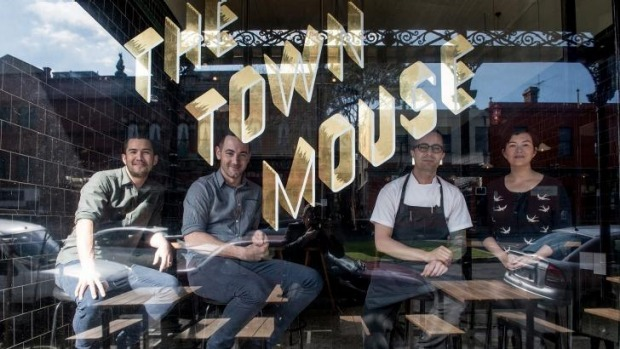 On a roll: (from left) Town Mouse's Christian McCabe, Jay Comeskey, Dave Verheul and Amber McCabe.