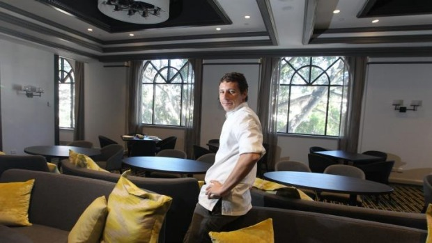 Tasting space: Chef Julien Pouteau at the Stockroom at the Hotel Intercontinental in Double Bay.