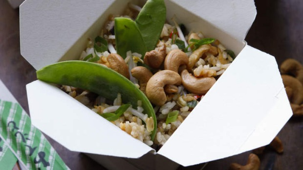 Special vegetarian fried rice.
