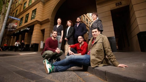 Talent pool: Back row, from left, The Archway tenants Hannah Alderton (Altius), Kerry Chew (Hunters' Roots), Charan ...