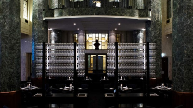 Uber steakhouse amid Art Deco opulence... Rockpool Bar & Grill.