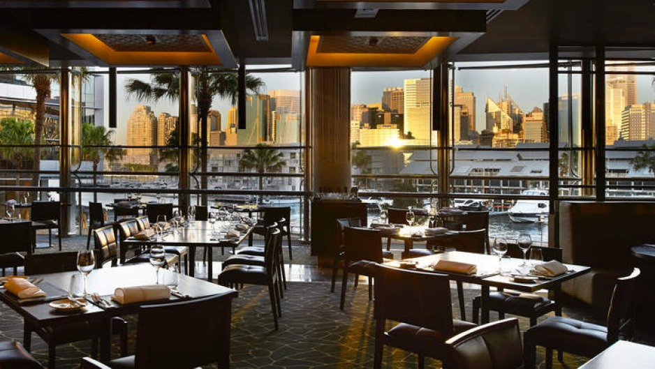 Comfortable and flattering: The dining room at BLACK by Ezard.