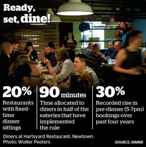 The race against dining time.