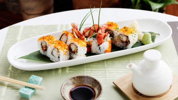 Dazzling, colourful platters... sushi e.