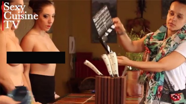 'We really set out to try and make the breasts disappear' ... Sexy Cuisine TV.