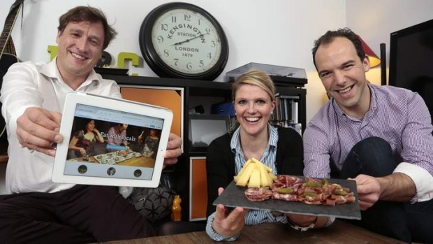 Connected: French Embassy chef Jean-Marie Le Rest, right, and  Caroline Le Rest serve Voulez Vous Diner Australia ...