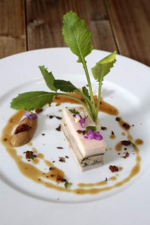 A dish from French Embassy Chef Jean-Marie Le Rest.
