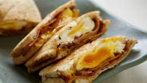 Bacon, egg and kasundi jaffle