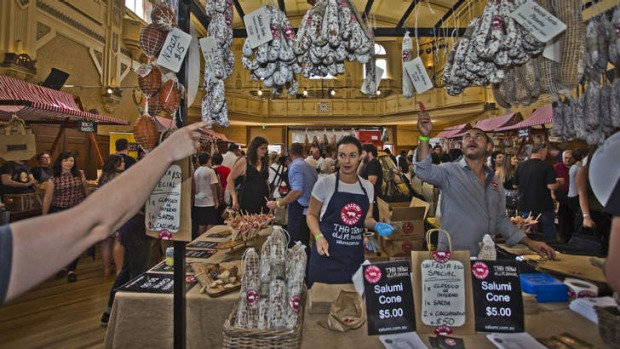 Melbourne Salami Festa at the Northcote Town Hall.