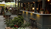 Linger late: The Potting Shed offers garden-inspired cocktails and more.
