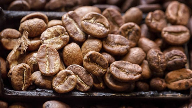 A different kind of hit: Grind coffee beans like these and roast with your home-grown carrots.