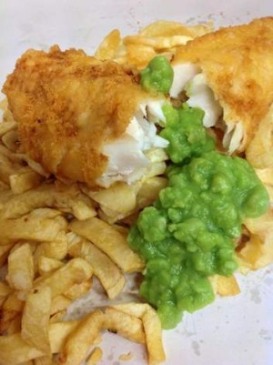 Brit-style fish and chips from The Traditional Chip Shop.